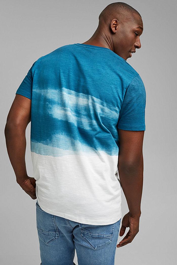 Dżersejowy T-shirt z nadrukiem, 100% bawełny ekologicznej, PETROL BLUE, detail image number 3