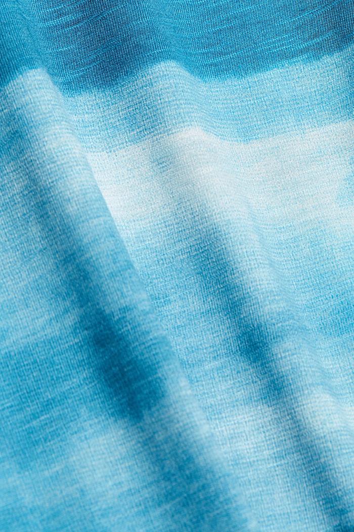 Dżersejowy T-shirt z nadrukiem, 100% bawełny ekologicznej, PETROL BLUE, detail image number 5