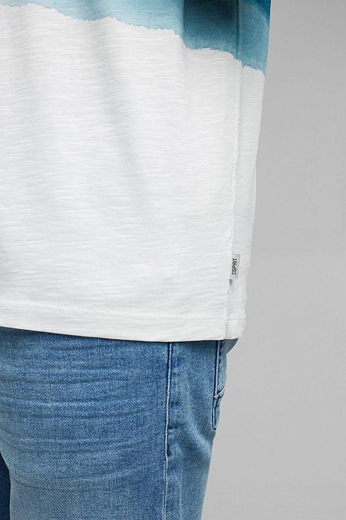 Dżersejowy T-shirt z nadrukiem, 100% bawełny ekologicznej, PETROL BLUE, detail image number 7