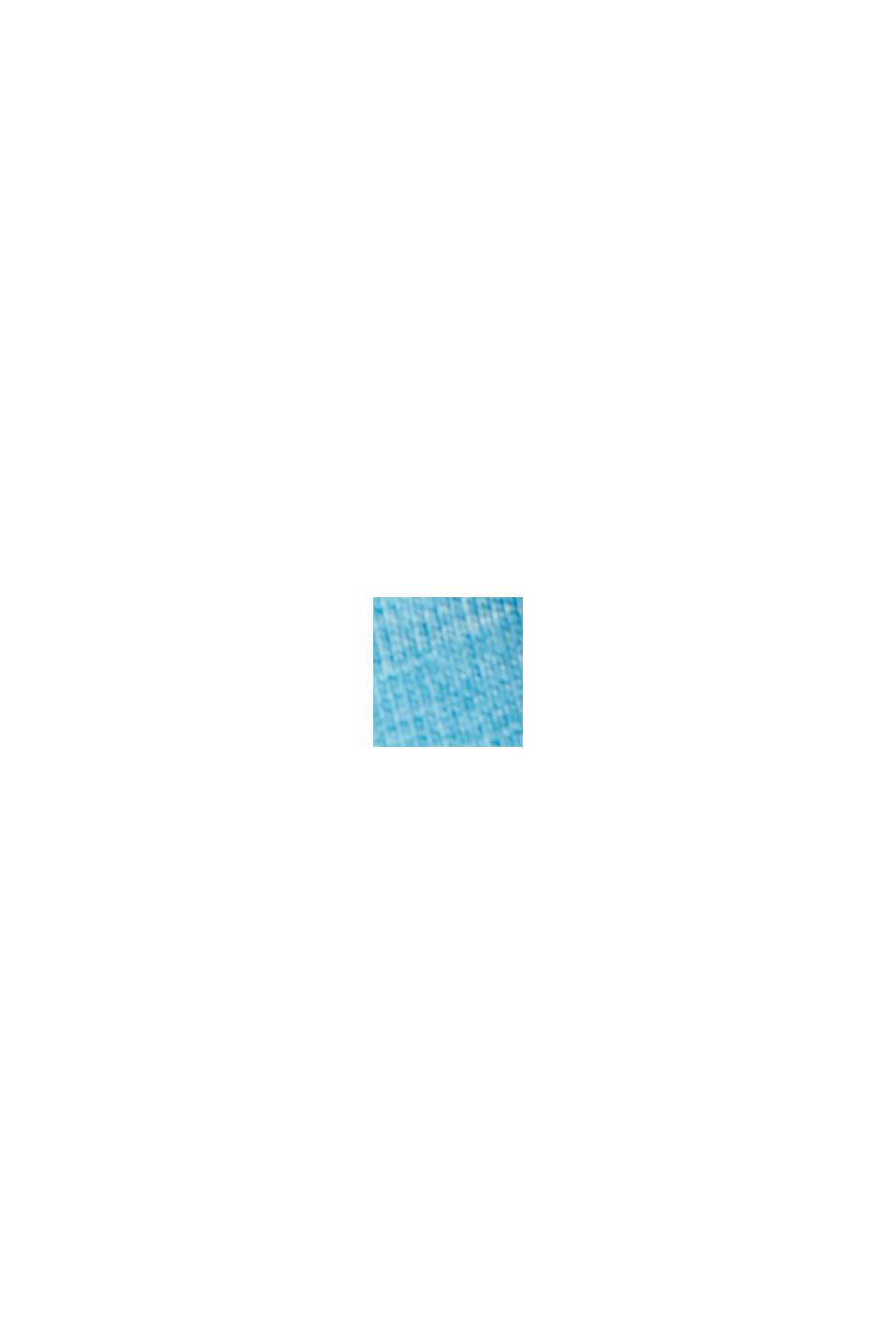 Printtikuvioitu jersey-t-paita, 100 % luomupuuvillaa, PETROL BLUE, swatch