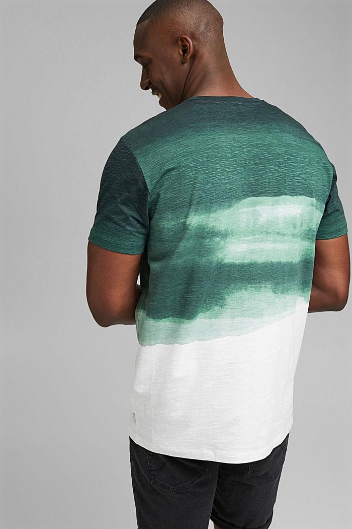 Dżersejowy T-shirt z nadrukiem, 100% bawełny ekologicznej, TEAL GREEN, detail image number 3