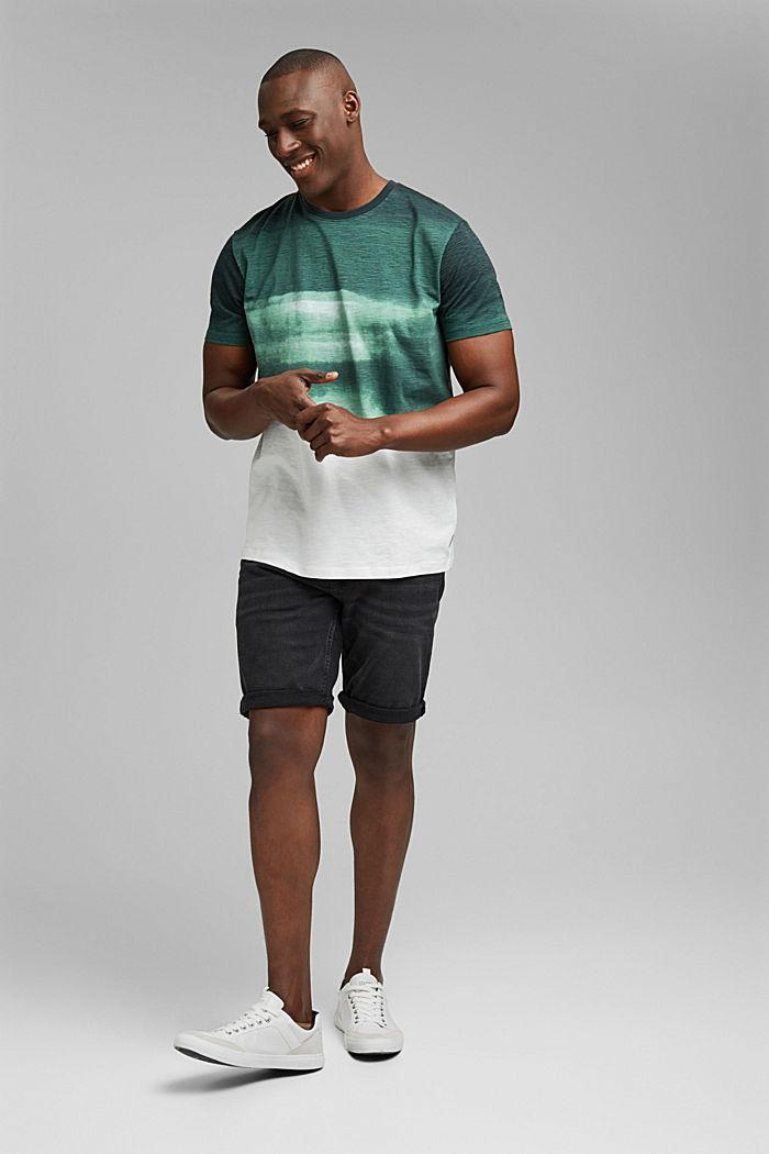 Dżersejowy T-shirt z nadrukiem, 100% bawełny ekologicznej, TEAL GREEN, detail image number 2