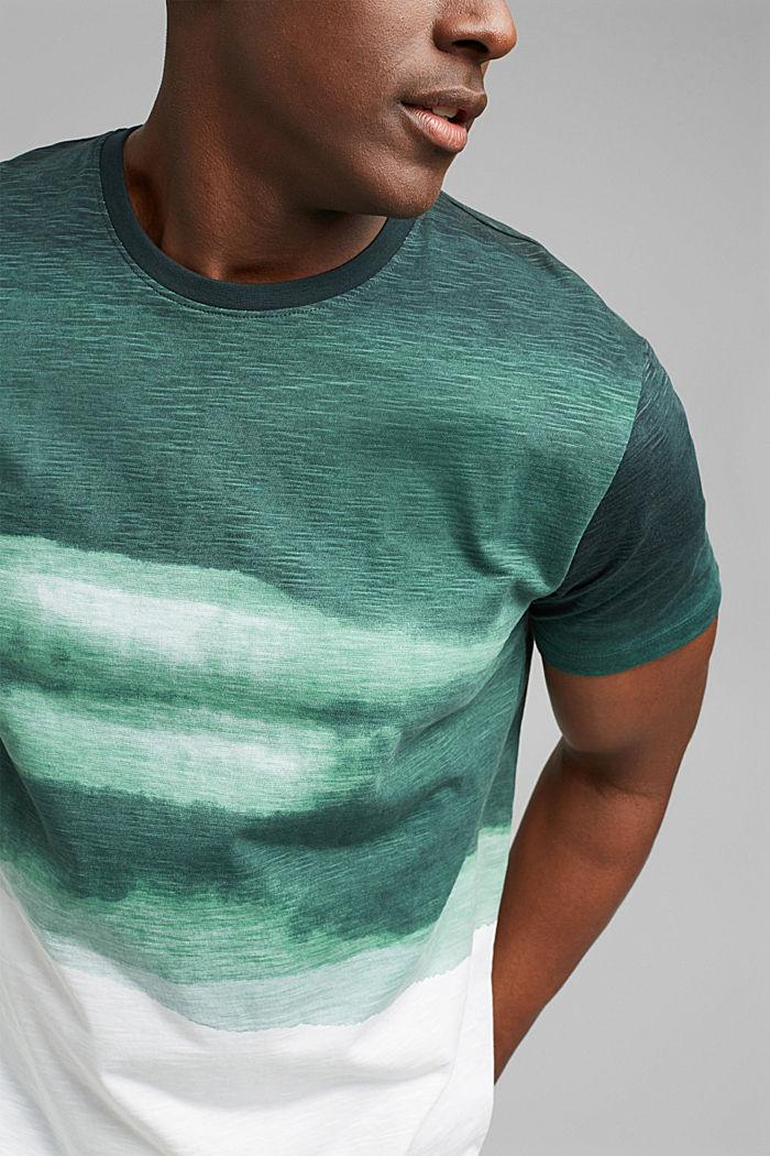 Dżersejowy T-shirt z nadrukiem, 100% bawełny ekologicznej, TEAL GREEN, detail image number 1