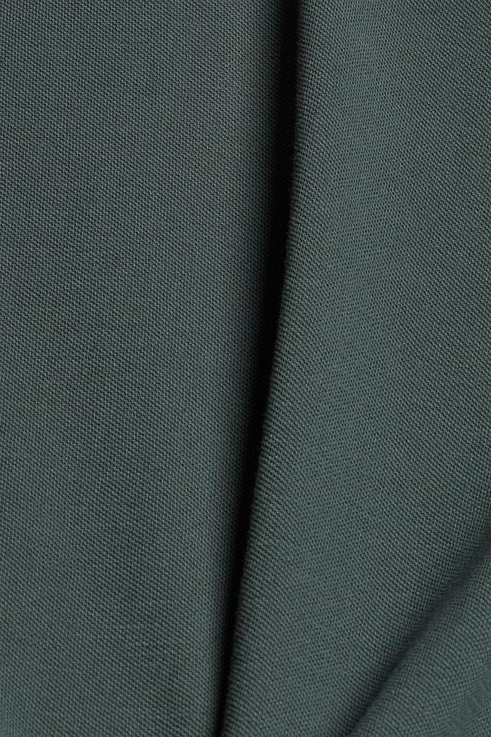 Piqué T-shirt van 100% biologisch katoen, TEAL BLUE, detail image number 4