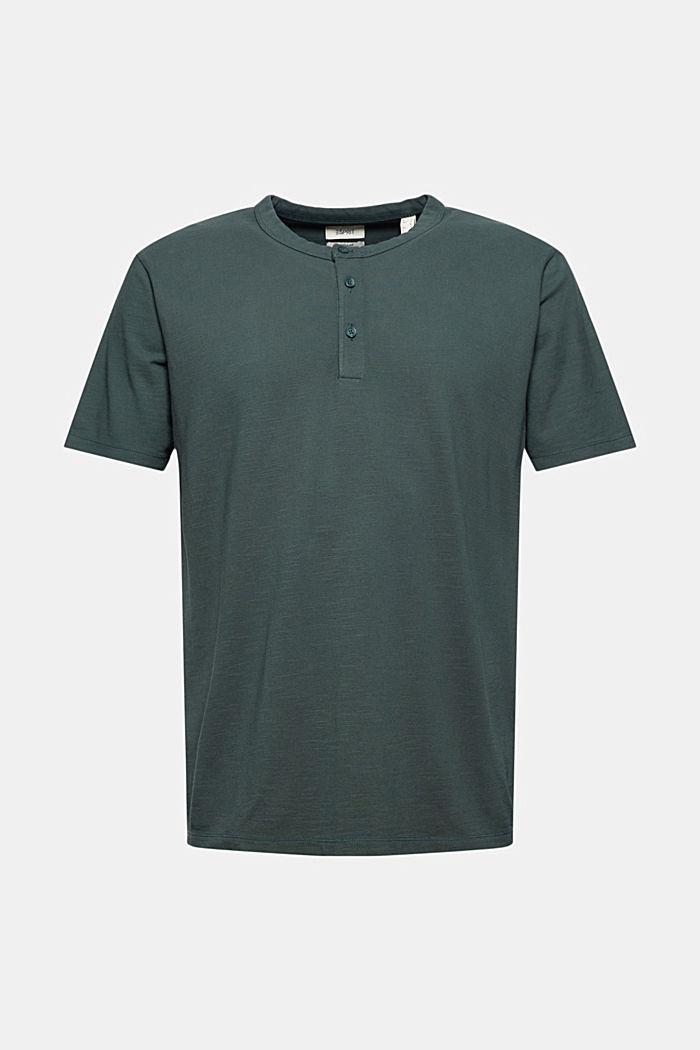 Piqué T-shirt van 100% biologisch katoen, TEAL BLUE, detail image number 5