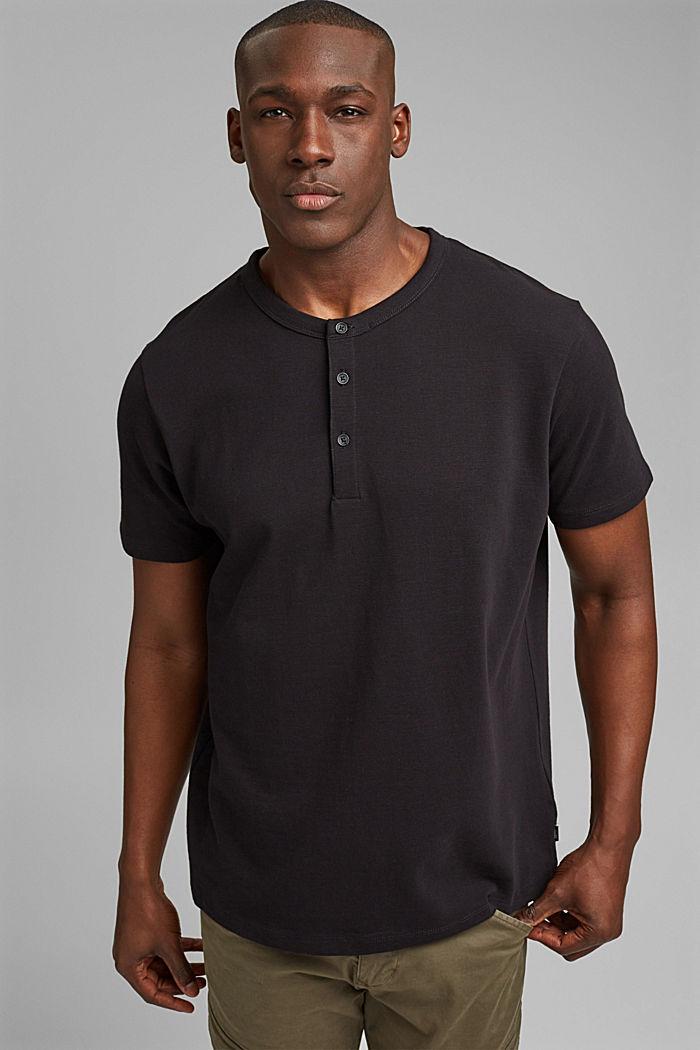 Piqué T-shirt van 100% biologisch katoen, BLACK, detail image number 0