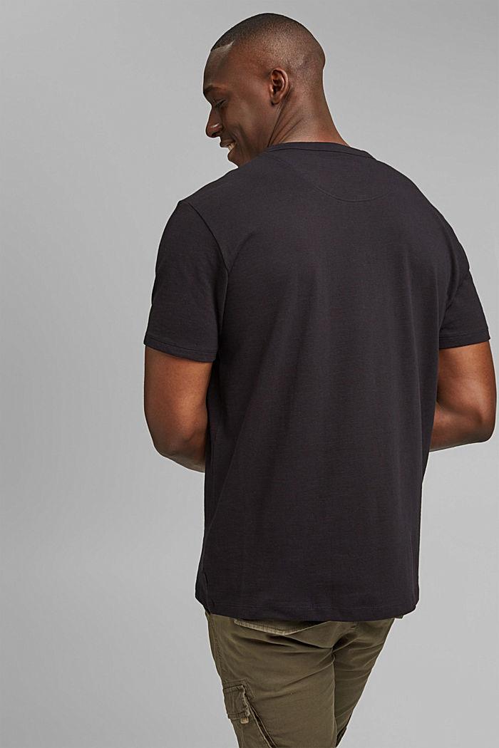 Piqué T-shirt van 100% biologisch katoen, BLACK, detail image number 3