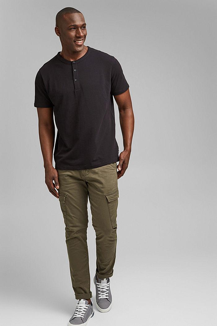 Piqué T-shirt van 100% biologisch katoen, BLACK, detail image number 2
