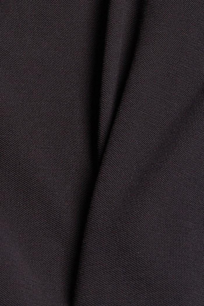 Piqué T-shirt van 100% biologisch katoen, BLACK, detail image number 4