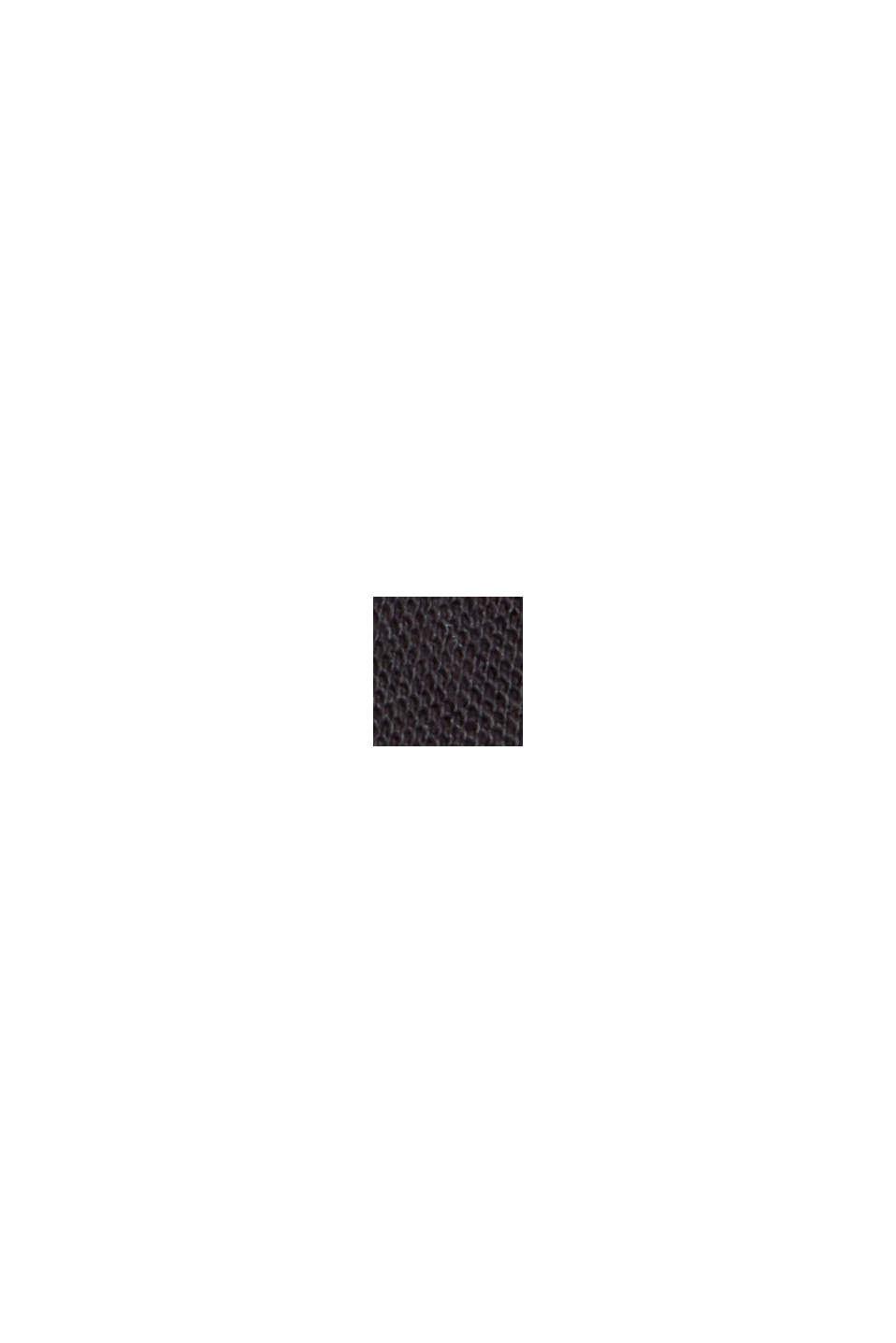 T-shirt in piqué di 100% cotone biologico, BLACK, swatch