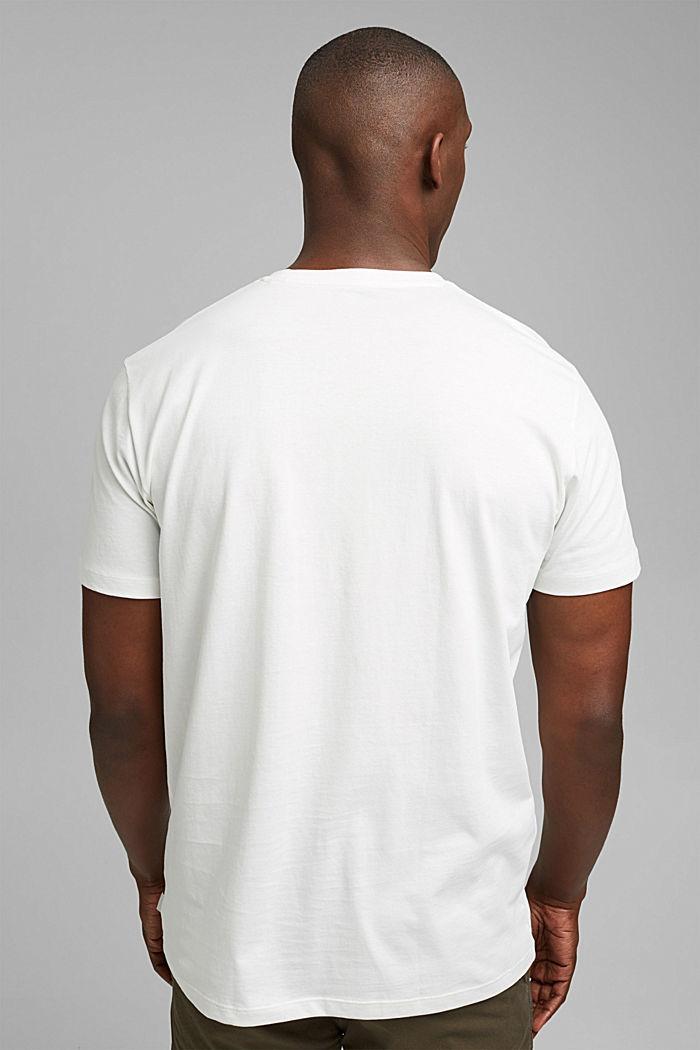 Jersey-T-Shirt mit Print , 100% Bio-Baumwolle, OFF WHITE, detail image number 3
