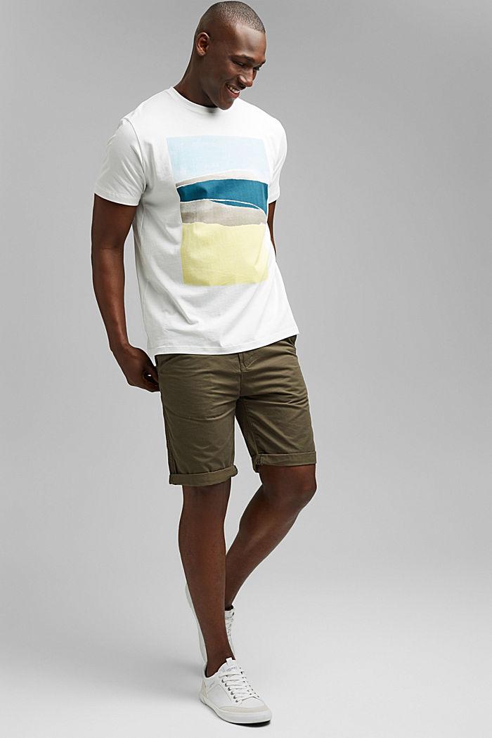 Jersey-T-Shirt mit Print , 100% Bio-Baumwolle, OFF WHITE, detail image number 2