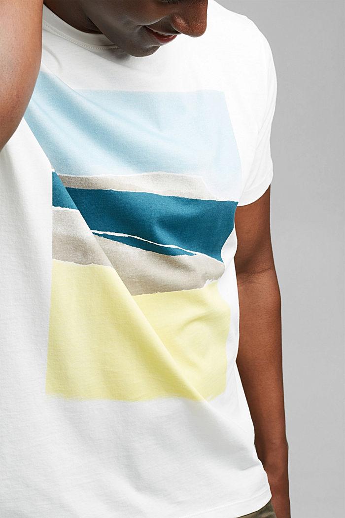Jersey-T-Shirt mit Print , 100% Bio-Baumwolle, OFF WHITE, detail image number 1