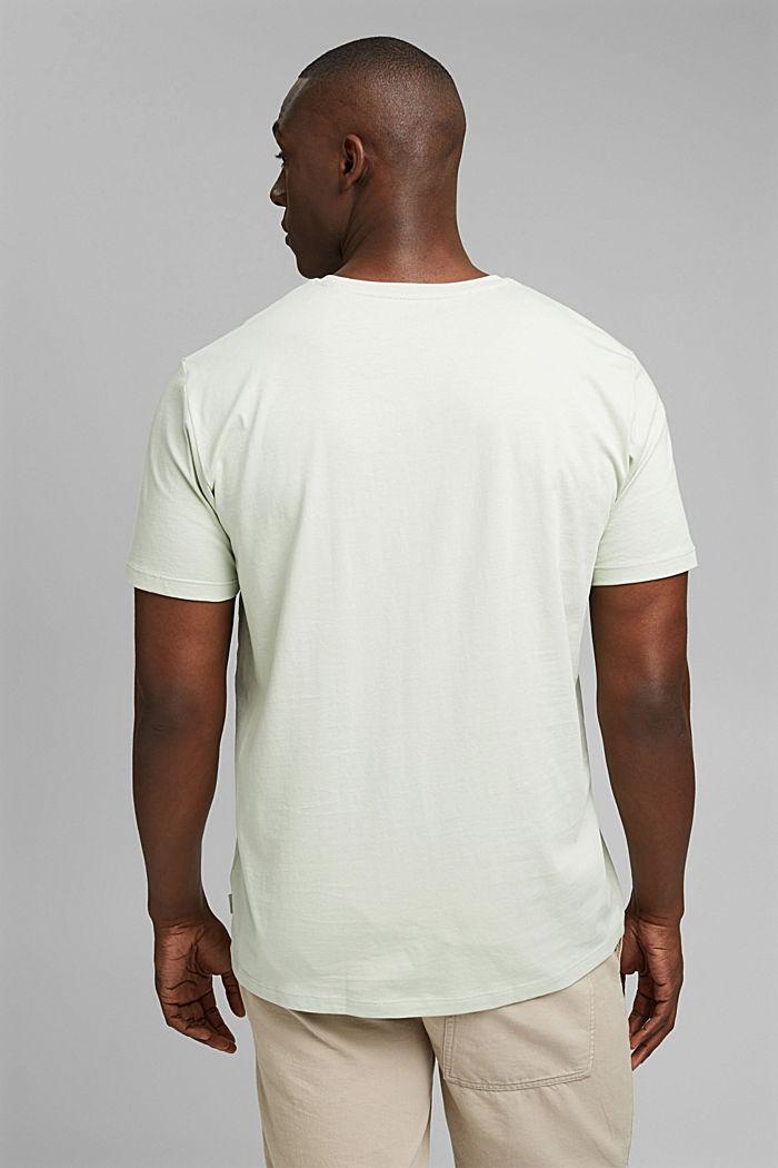 Jersey T-shirt met print, 100% biologisch katoen, PASTEL GREEN, detail image number 3