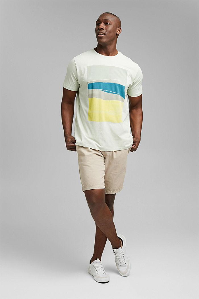 Jersey T-shirt met print, 100% biologisch katoen, PASTEL GREEN, detail image number 2