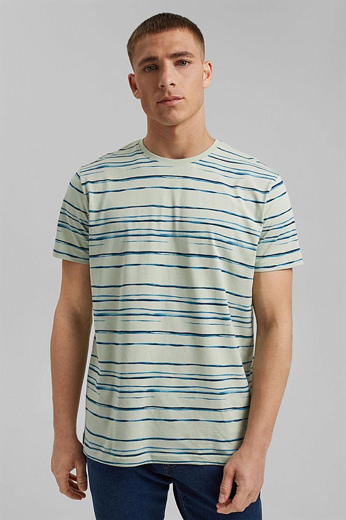 camiseta de jersey con estampado, 100 % algodón ecológico, PASTEL GREEN, detail image number 0