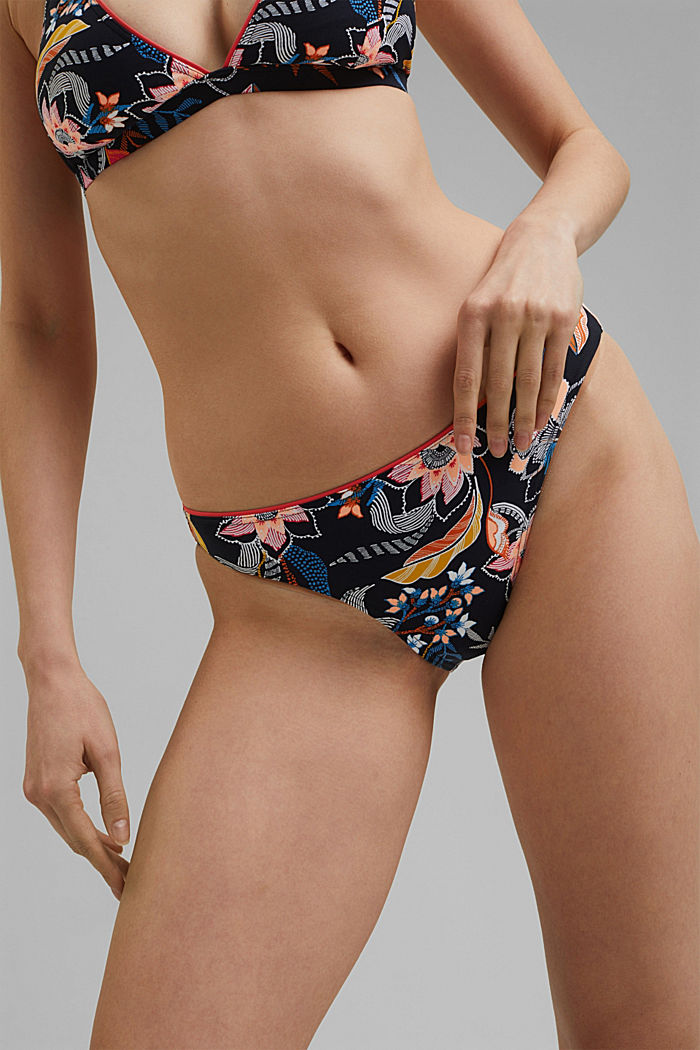 Recycled: floral print briefs