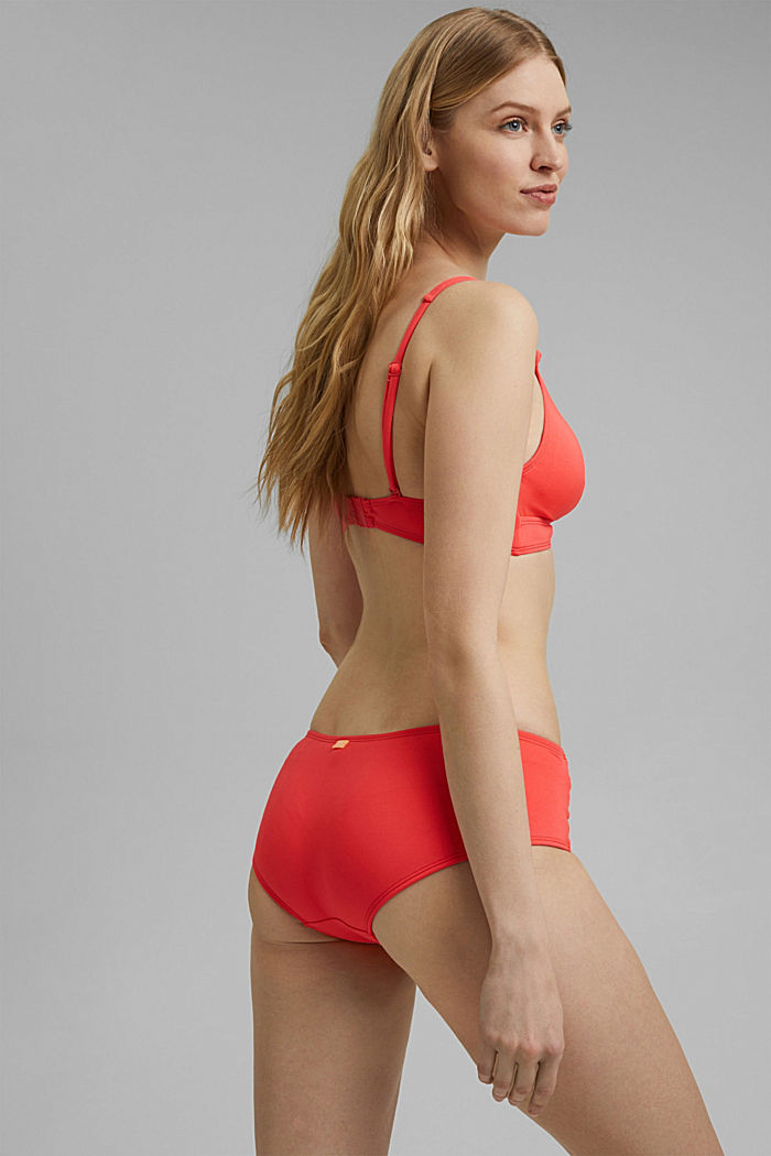 Recycled: padded top with braided details, CORAL, detail image number 1