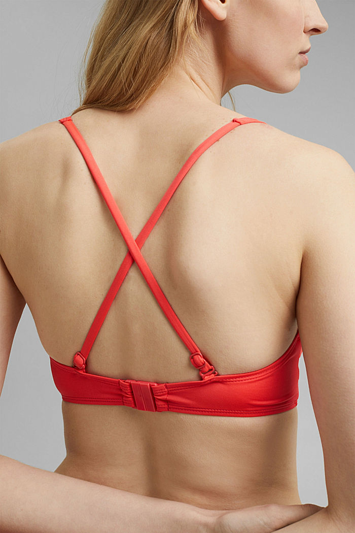 Recycled: padded top with braided details, CORAL, detail image number 4