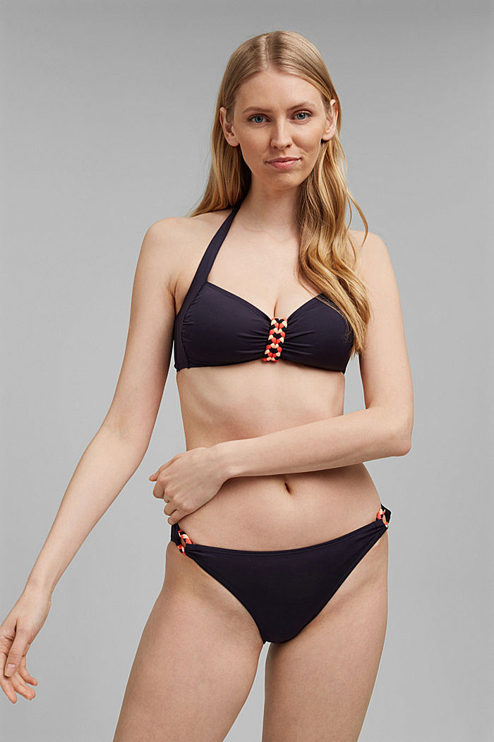 Recycled: hipster briefs with braided detail, NAVY, detail image number 0