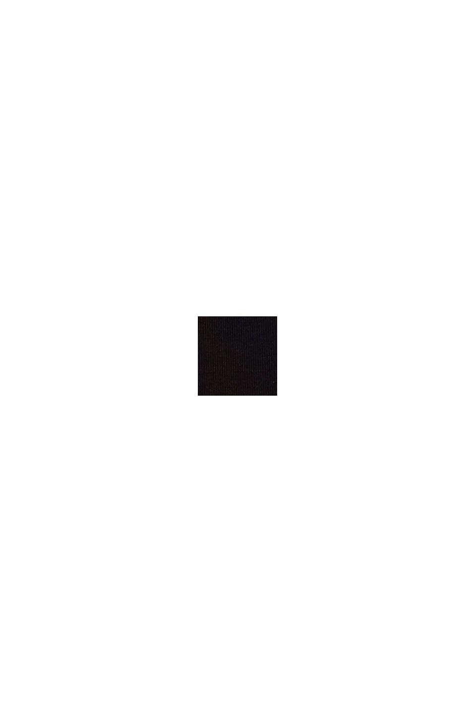 Gerecycled: slip met colour block look, BLACK, swatch