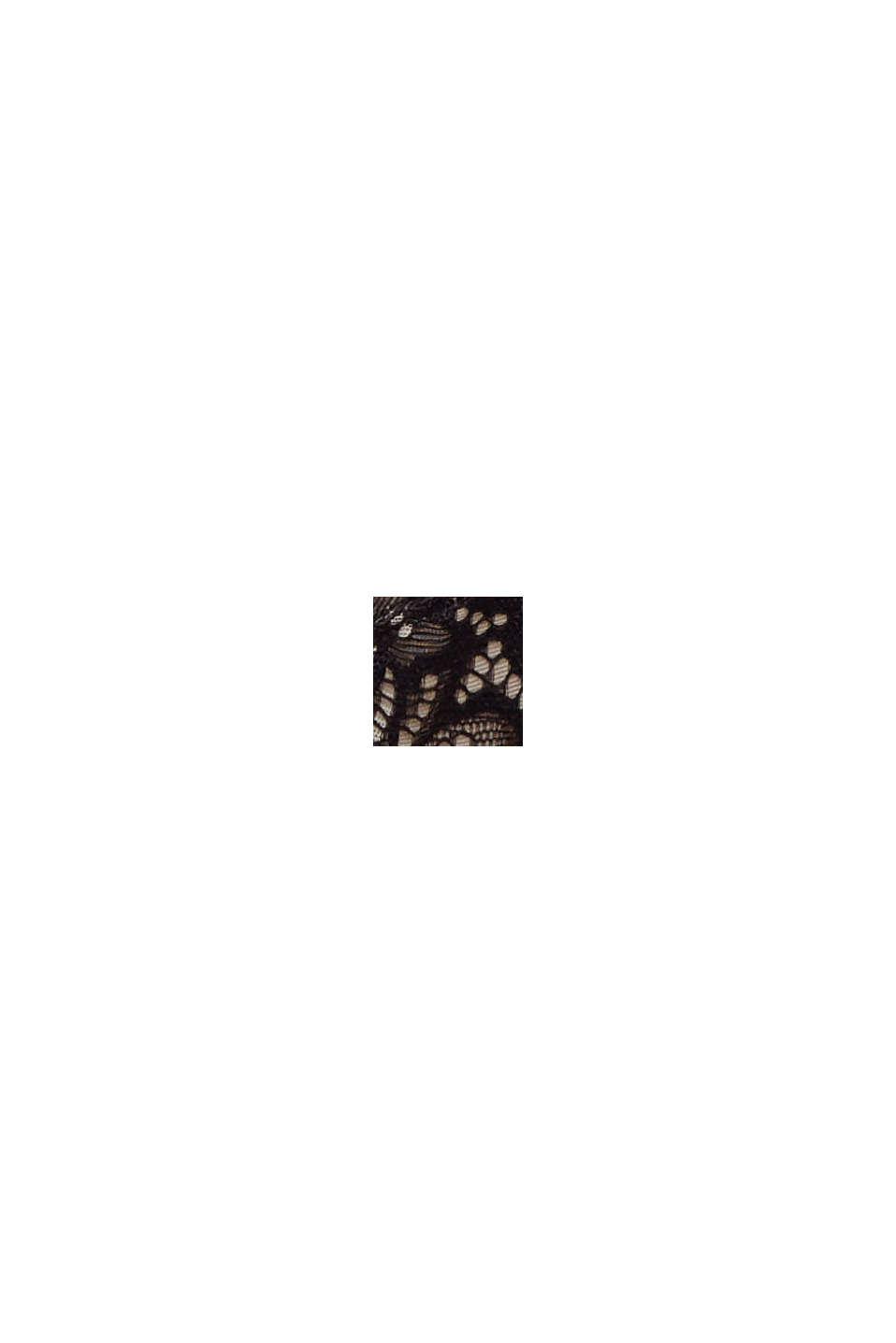 Recycelt: unwattierter Bügel-BH mit Spitze, BLACK, swatch