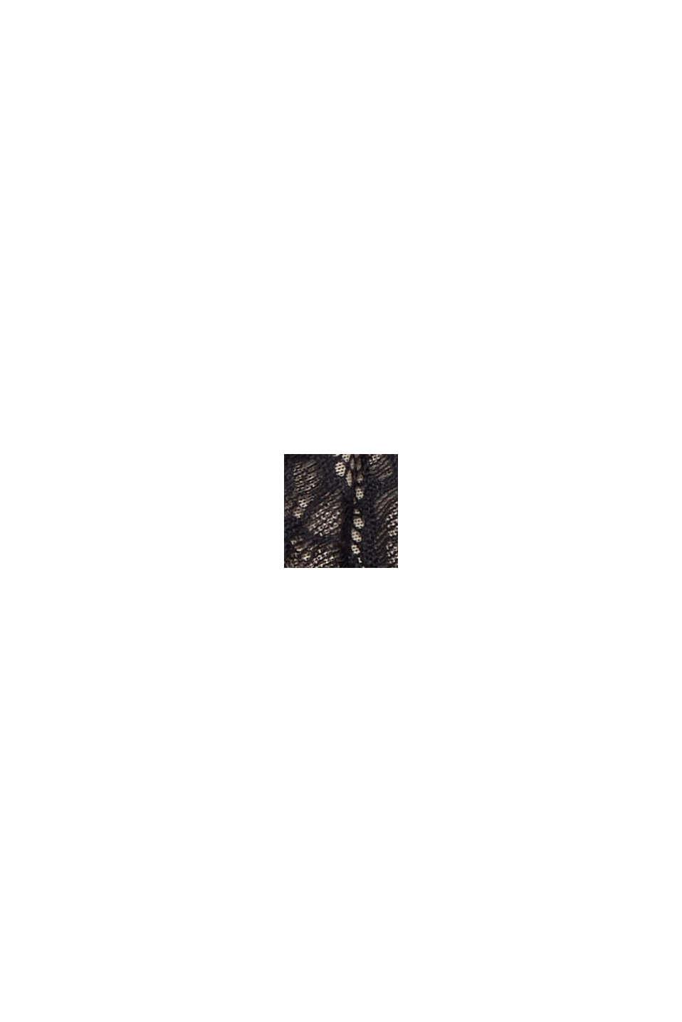 Bügel-BH mit unterlegter Spitze, BLACK, swatch