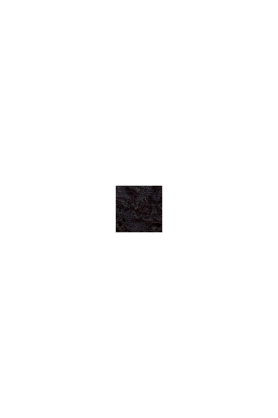 Af genanvendte materialer: vatteret bandeau med blonder, BLACK, swatch