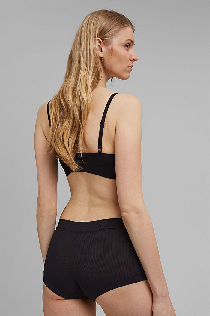 Virtually seamless padded bra, BLACK, detail image number 1