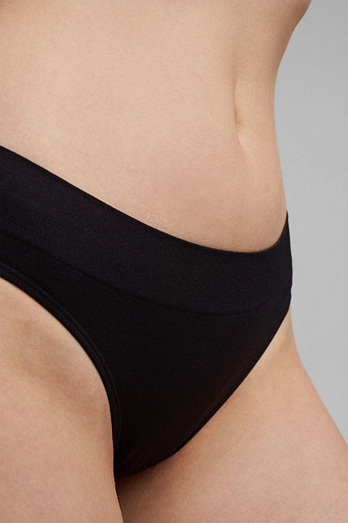 Soft, comfortable hipster briefs, BLACK, detail image number 2