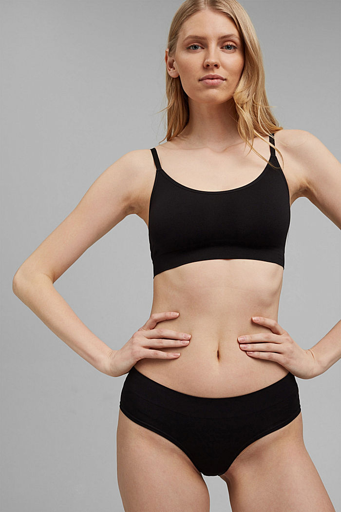 Soft, comfortable hipster shorts, BLACK, detail image number 1