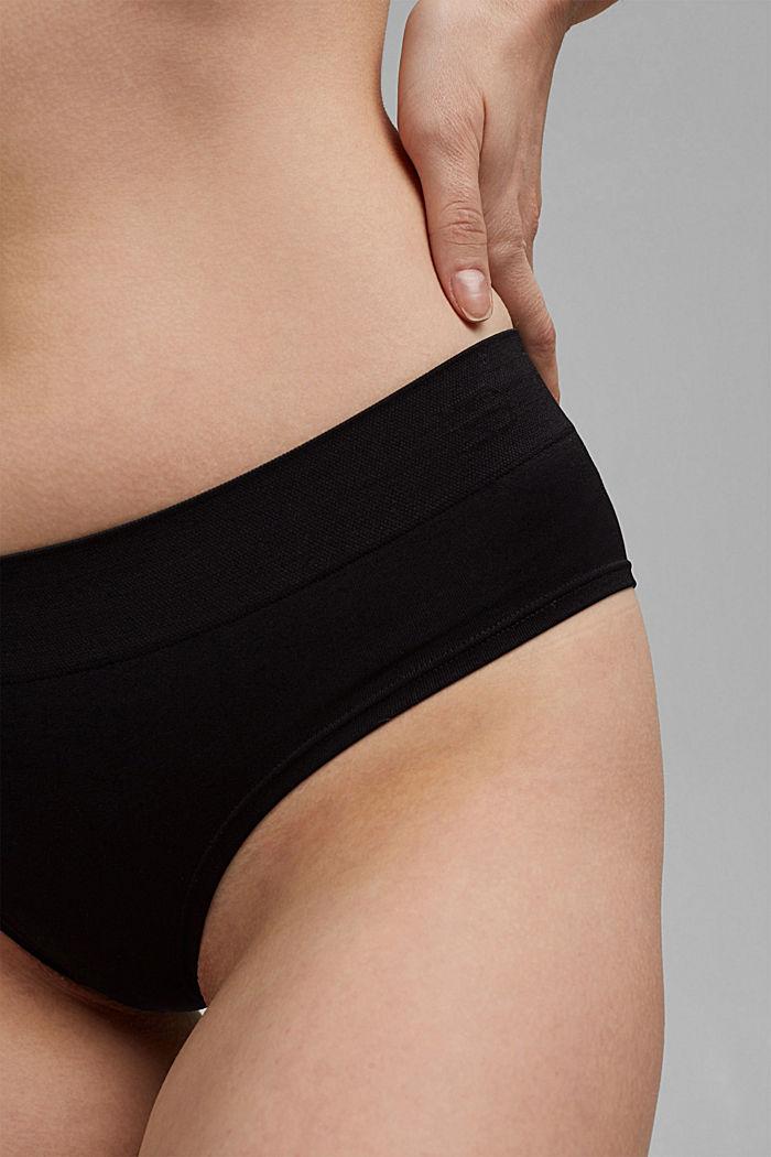Soft, comfortable hipster shorts, BLACK, detail image number 2