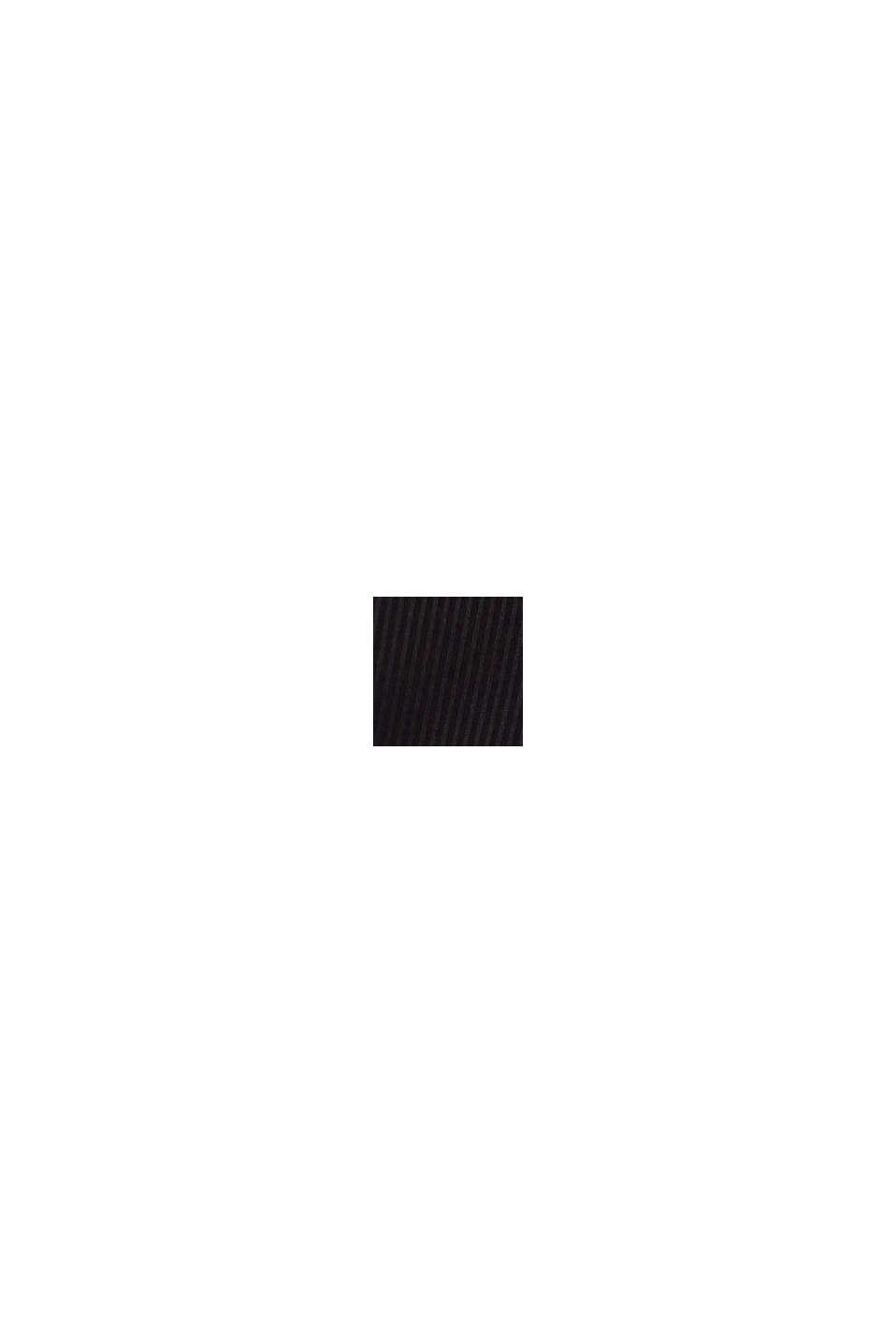 In materiale riciclato: shorts a coste sottili, BLACK, swatch