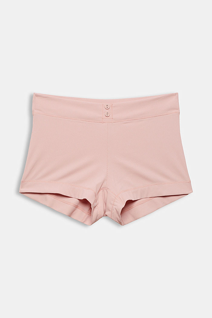 Recycelt: Shorts aus Feinripp, LIGHT PINK, detail image number 3