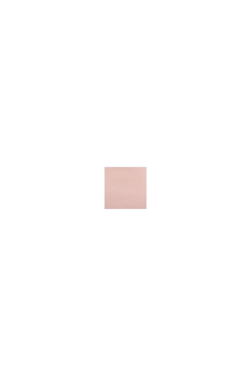 Gerecycled: fijn geribde henley-top, LIGHT PINK, swatch