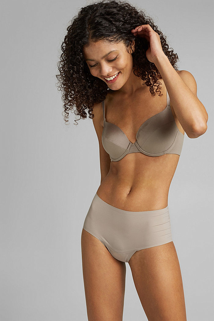 Recycled: padded underwire bra, LIGHT TAUPE, detail image number 0