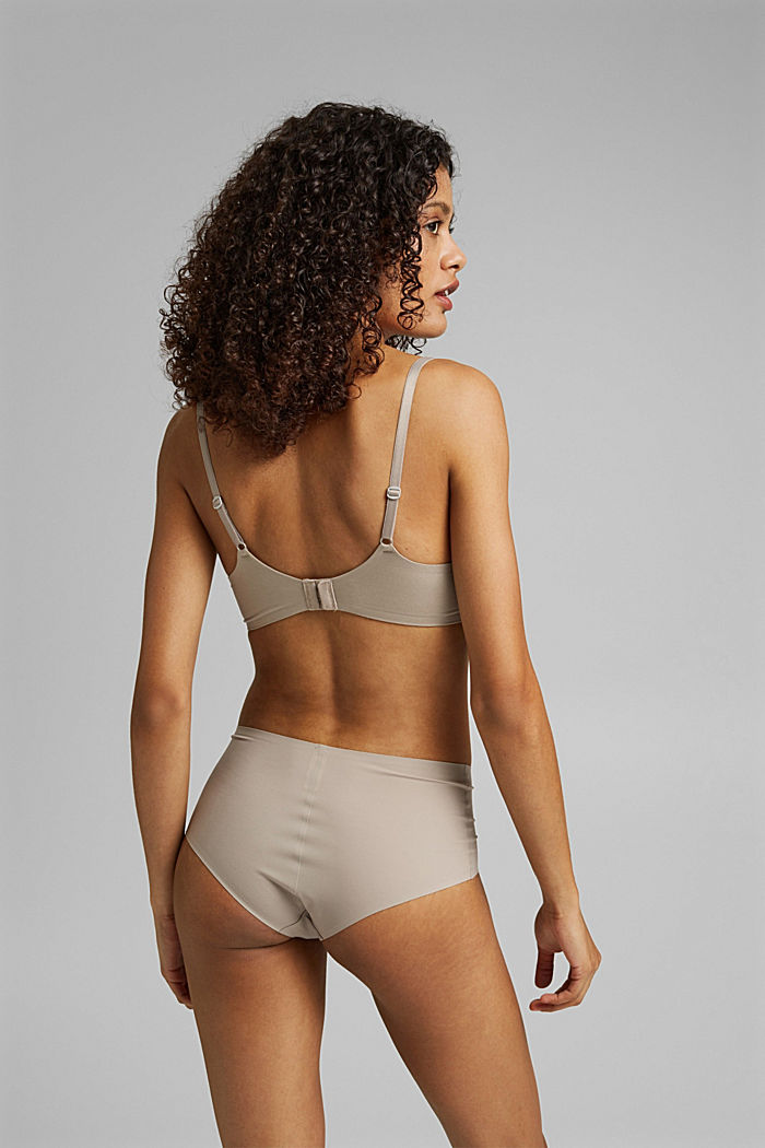 Recycled: padded underwire bra, LIGHT TAUPE, detail image number 1