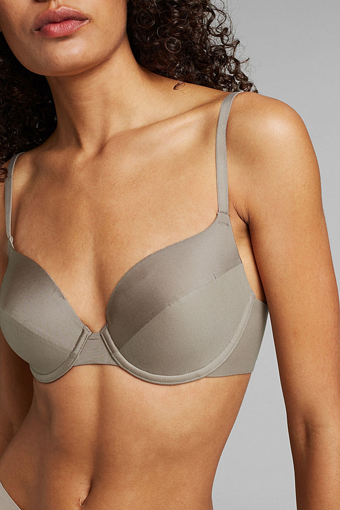 Recycled: padded underwire bra, LIGHT TAUPE, detail image number 2
