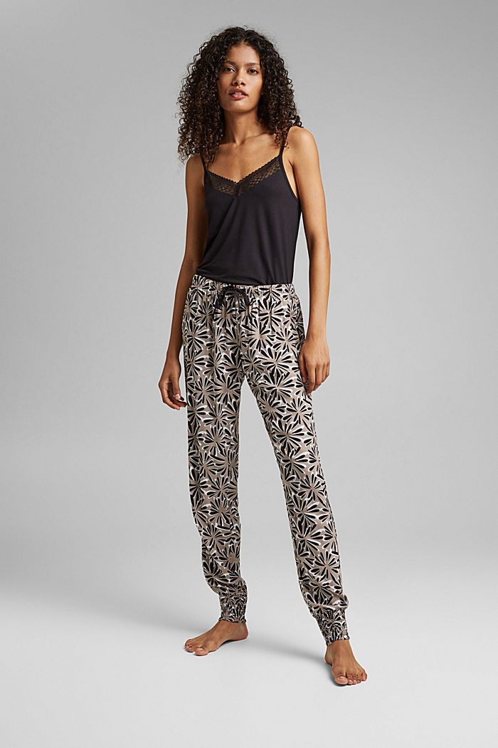Pijama en LENZING™ ECOVERO™, BLACK, detail image number 0