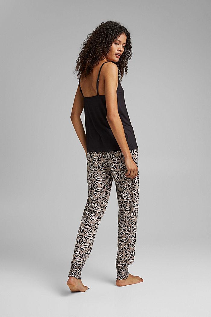 Pijama en LENZING™ ECOVERO™, BLACK, detail image number 1