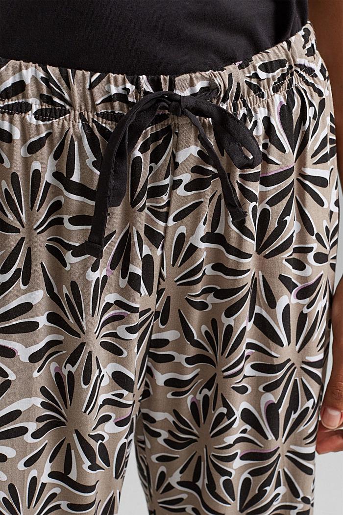 Pijama en LENZING™ ECOVERO™, BLACK, detail image number 4