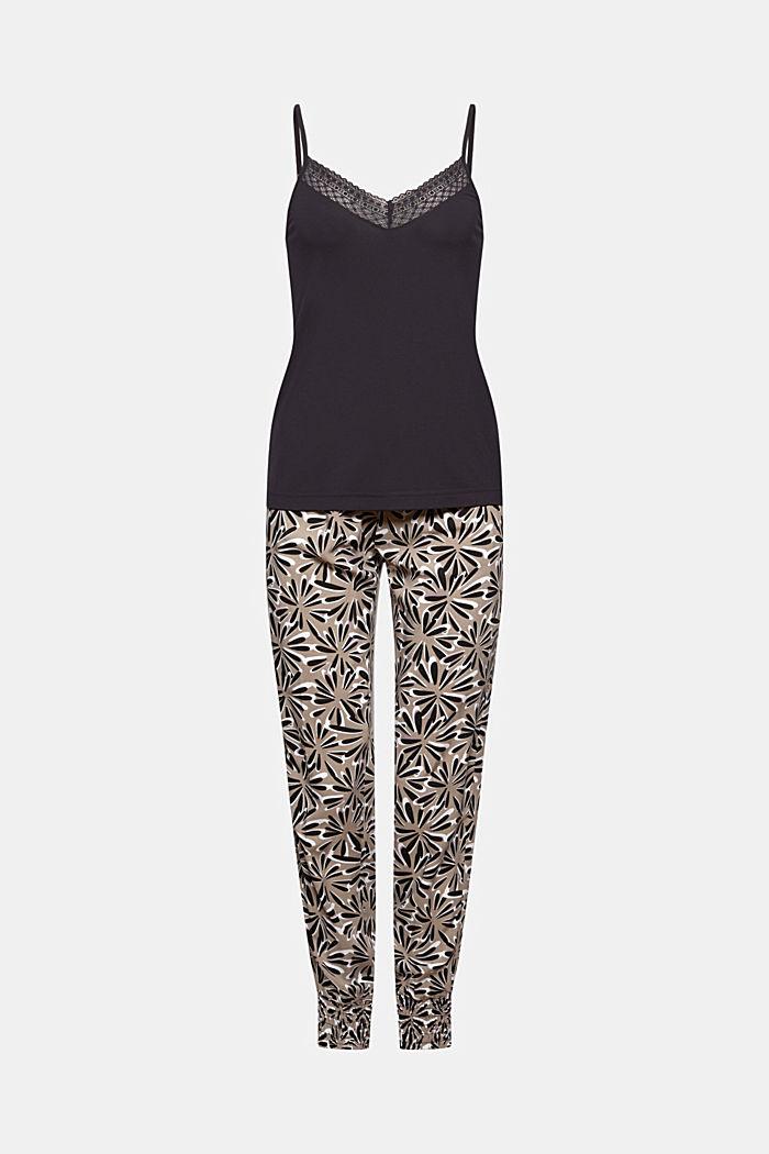 Pijama en LENZING™ ECOVERO™, BLACK, detail image number 5