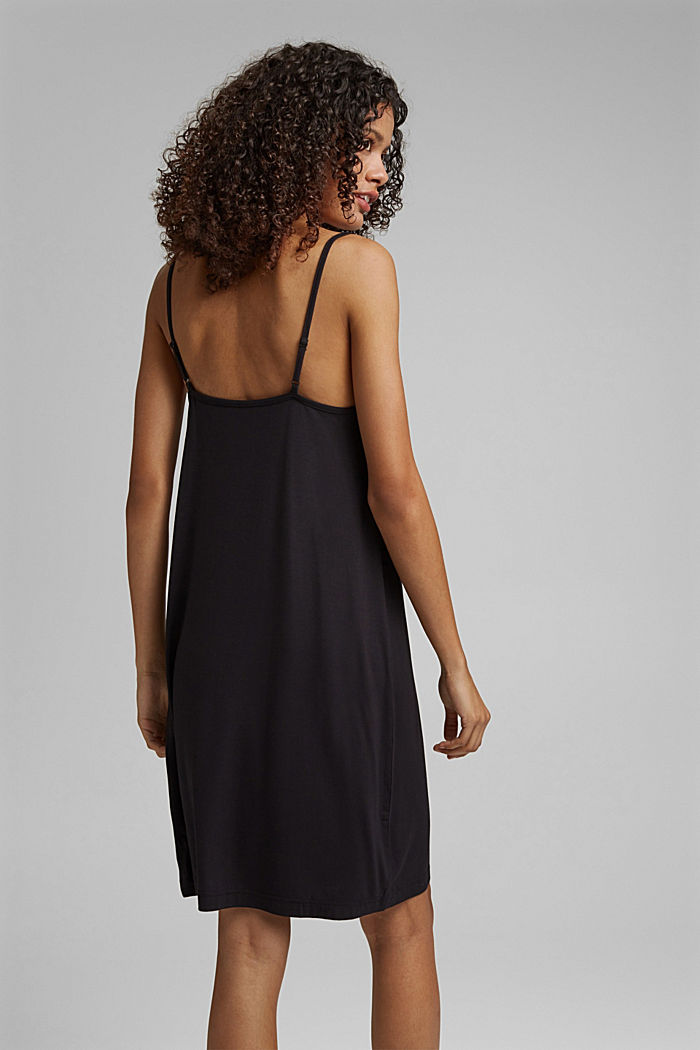Chemise de nuit en jersey, en LENZING™ ECOVERO™, BLACK, detail image number 2