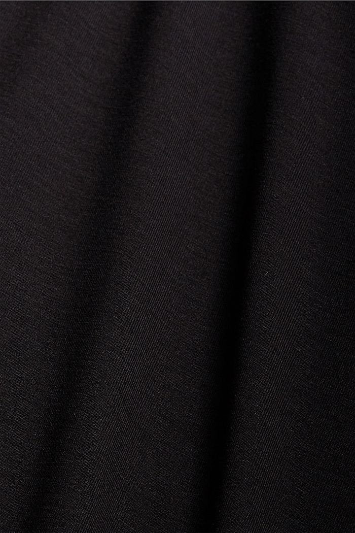 Chemise de nuit en jersey, en LENZING™ ECOVERO™, BLACK, detail image number 4