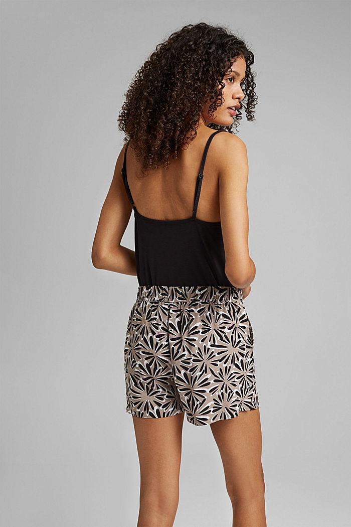 Pyjamashortsit LENZING™ ECOVERO™ -materiaalia, BLACK, detail image number 3