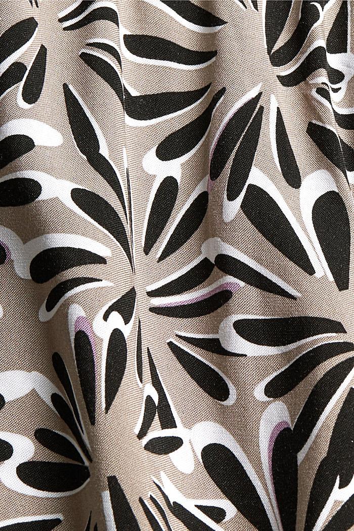Pyjamashortsit LENZING™ ECOVERO™ -materiaalia, BLACK, detail image number 4