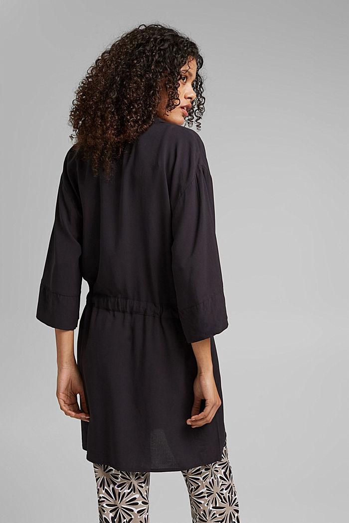 Kimono LENZING™ ECOVERO™ -materiaalia, BLACK, detail image number 2