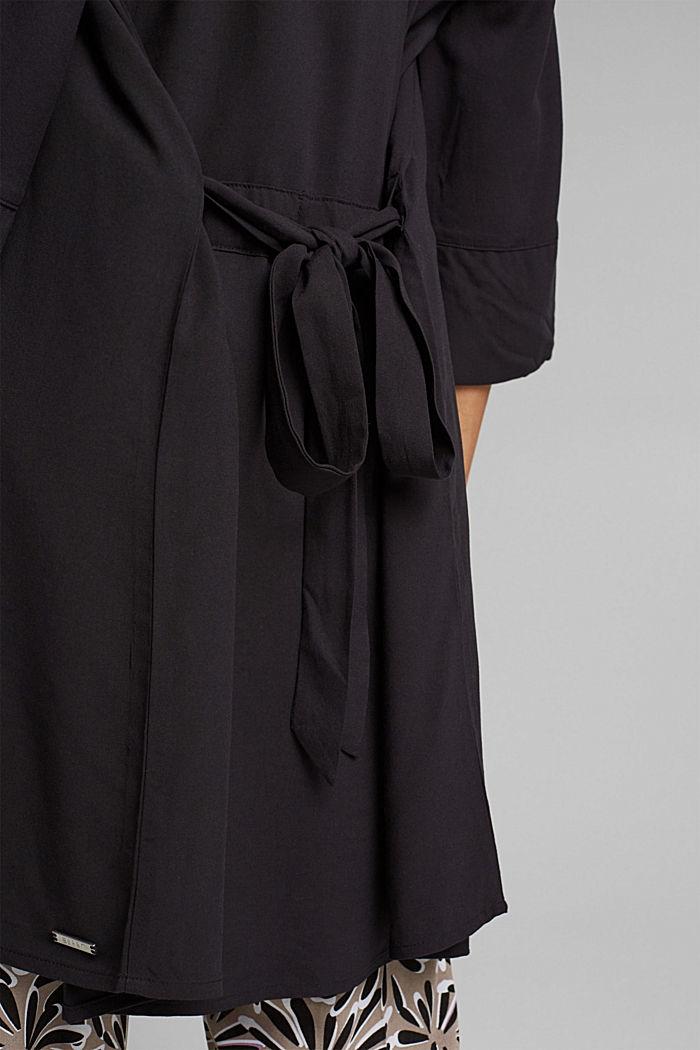 Kimono LENZING™ ECOVERO™ -materiaalia, BLACK, detail image number 3