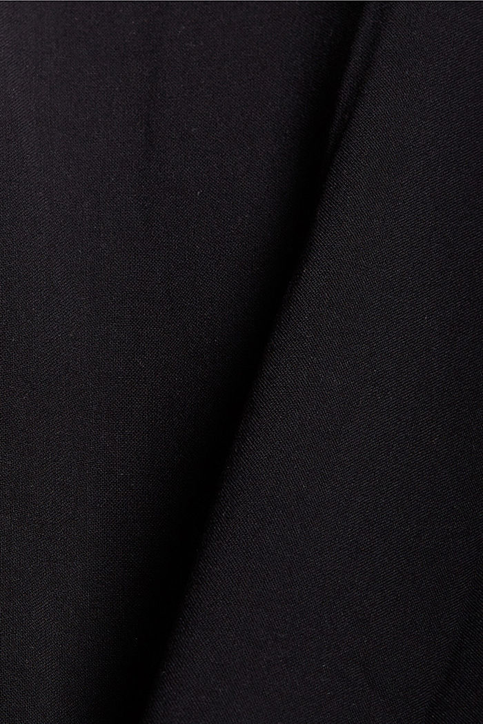 Kimono LENZING™ ECOVERO™ -materiaalia, BLACK, detail image number 4