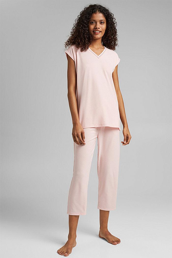 Jersey-Pyjama mit LENZING™ ECOVERO™, LIGHT PINK, detail image number 1